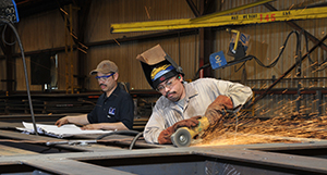 Mobil Steel's experience craftsman complete cuts and welds for quality steel fabrication
